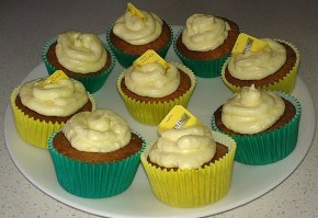Earl Grey cupcakes with Lemon cream cheese frosting