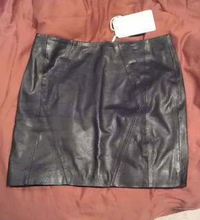 Urban Code leather skirt from Asos